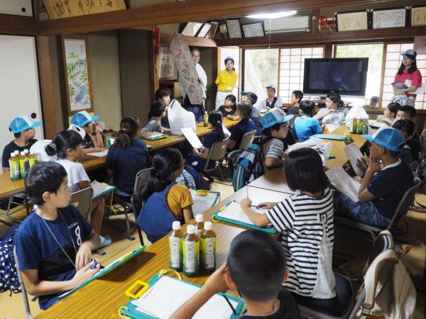 大避神社社務所で学ぶ赤穂市坂越小学校